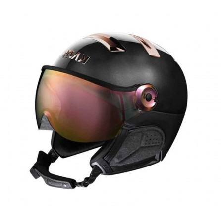CASCO KASK CHROME VISOR BLACK PINK GOLD