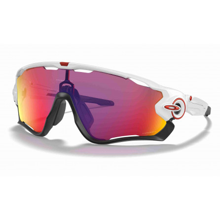 GAFAS OAKLEY JAWBRAKER RAME POLISHED WHITE PRIZM ROAD